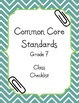 Common Core Math Checklists - Class and Individual (editable) - Grade 7