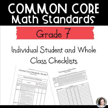 Common Core Math Checklists - Class and Individual (editab