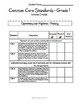 Common Core Math Checklists - Grade 1