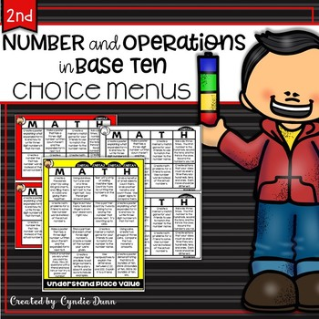 Choice Boards Second Grade Number and Operations in Base Ten