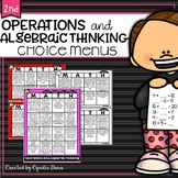Choice Boards Operations and Algebraic Thinking Second Grade