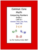 Common Core Math Comparing Numbers 1.NBT.B.3 Grade 1