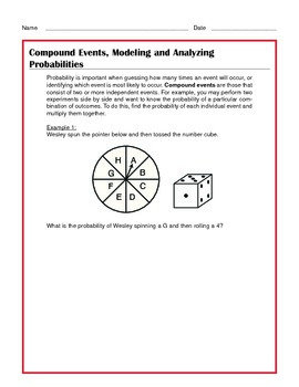 Common Core Math: Compound Events, Modeling, Probabilities - Tutorial & Practice