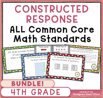 Math Constructed Response Word Problems BUNDLE ALL 4th Grade Common Core