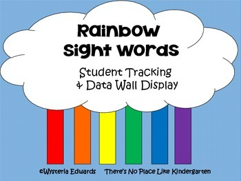 Rainbow Sight Words Data Collection Tools