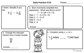Common Core Math Daily Practices For The Year