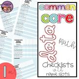 Common Core Math Data Checklist {1st Grade}