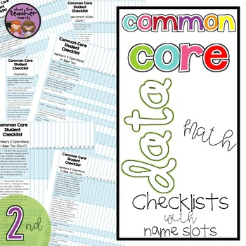 Common Core Math Data Checklist {2nd Grade}