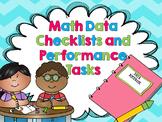 Kindergarten Common Core Math Data Notebook Kit - Assessment and Checklist