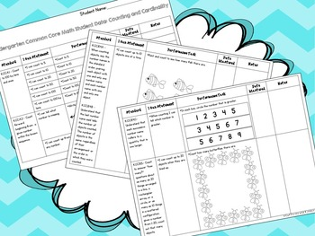 Kindergarten Common Core Math Data Notebook Kit - Assessment and Checklist