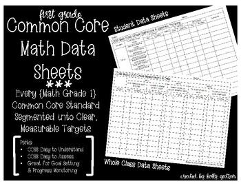 Common Core Math Data Sheets - First Grade