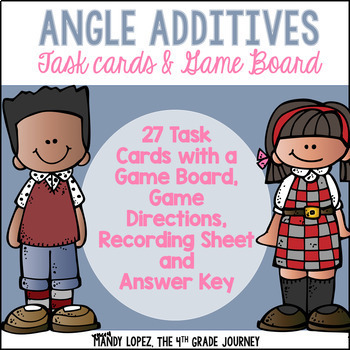 Angle Additive Task Cards & Game Board