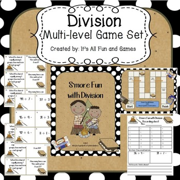 Division Game - (2 levels of Play)