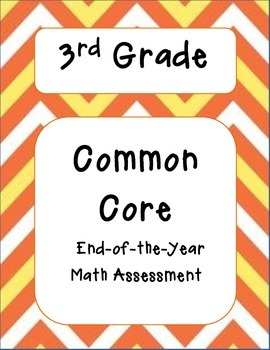 3rd Grade Common Core Math Formative Assessments