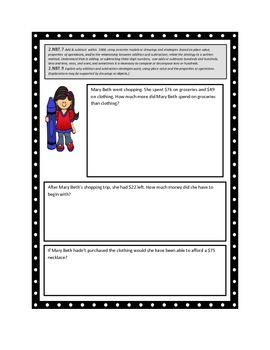 Common Core Math Entrance Slips (Formative Assessments)