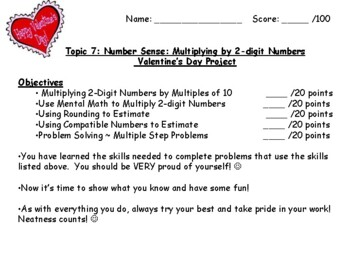 Common Core Math - Envision Grade 4 Topic 7 Multiplication - Project Craftivity