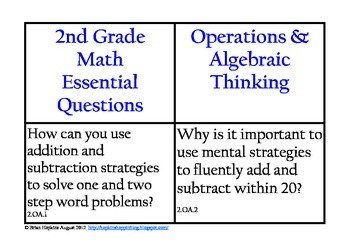 Common Core Math Essential Questions for 2nd Grade by Brian Hopkins