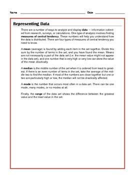 Common Core Math: Representing Data - Tutorial and Practice