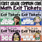 Common Core Math Exit Tickets- FIRST GRADE BUNDLE
