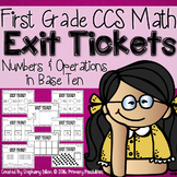 Common Core Math Exit Tickets- First Grade NBT