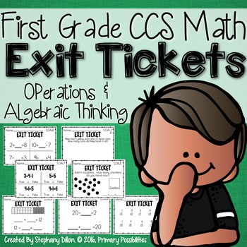 Common Core Math Exit Tickets- First Grade OA