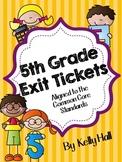 Common Core Math Exit Tickets Grade 5