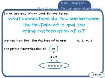 Factors and Prime Factorization 4OAB4 Math Exploration