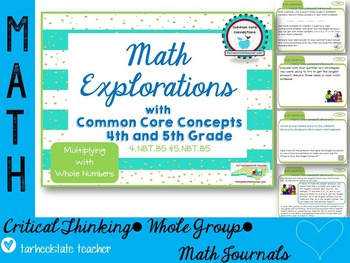 Multiplication NBT4.5 NBT5.5 Math Explorations