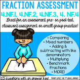 Common Core Math FRACTION Assessment {4.NF.1, 4.NF.2, 4.NF.3, 4.NF.4}