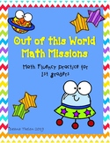 Out of This World Math Missions-Math Fluency Practice for 1st and 2nd Grade