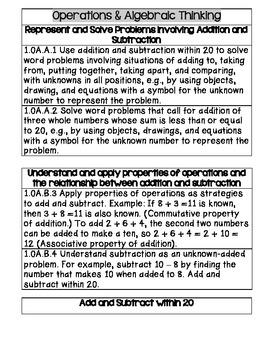 Common Core Math - First Grade