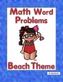 First Grade Math Word Problems-Beach Theme-Use Multiple Strategies