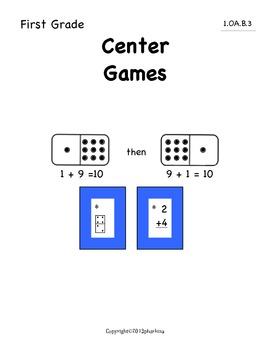 Common Core Math First Grade Commutative and Associative Properties 1.OA.B.3