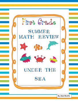 End of Year Math Review - First Grade - Under the Sea