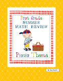 End of Year Math Review - First Grade -  Picnic Theme