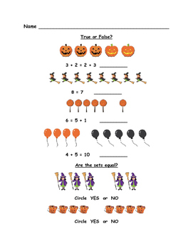 Halloween Math - First Grade