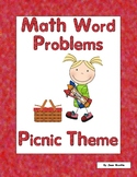 First Grade Math Word Problems-Picnic Theme-Use Mulitple Strategies