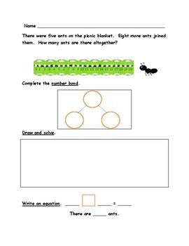 First Grade Math Word Problems-Picnic Theme-Use Mulitple Strategies