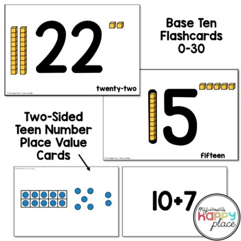 Math Flashcards Pack - dot cards, subitizing, teen numbers, and more!