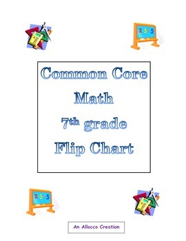 Common Core Math Flip Chart 7th Grade