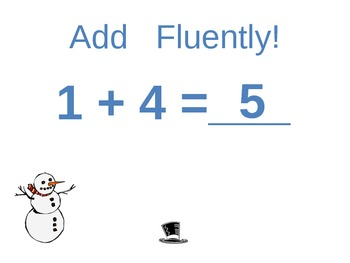 Common Core Math Fluent Addition Sums of 5: adding 0 and 1