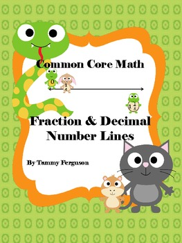 Common Core Math Fraction and Decimal Number Lines
