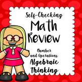Self Checking Math Review - Number and Operations Algebraic Thinking