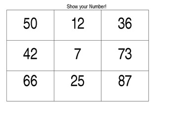 Common Core Math Game: Show your Number!