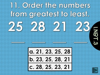 Common Core Math Game for First Grade - 1.NBT.3  Interactive Powerpoint