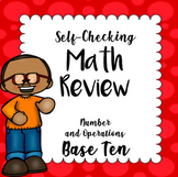 Math Center -Self Checking Task Cards - Number and Operati