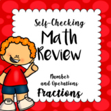 Math Center - Self Checking Task Cards - Number and Operat