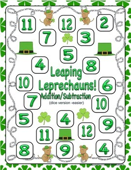 St. Patrick's Day Adding, Subtracting, and Place Value Games