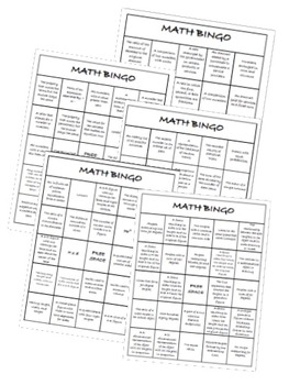 It's just an image of Luscious 7th Grade Math Bingo Printable