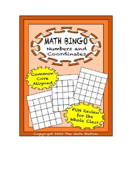 "Common Core Math Games - ""Math BINGO"" Coordinates & Number"